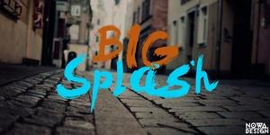 Big Splash Font (Free)