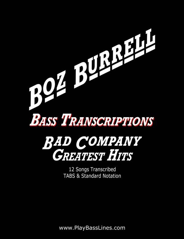 Boz Burrell Bass Transcriptions - Bad Company - Greatest Hits