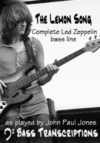 The Lemon Song (complete bass line) - Led Zeppelin (Bass: John Paul Jones)
