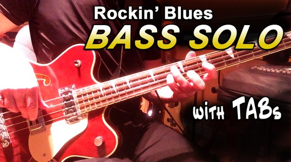 Rockin' Blues Bass Solo (Practice Material) Video, mp3, Guitar Pro File & PDF TABS
