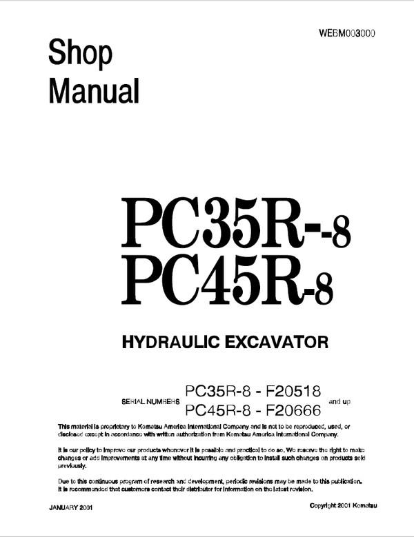 Komatsu D80A-18, D80E-18, D80P-18, D85A-18 D85E-18 D85