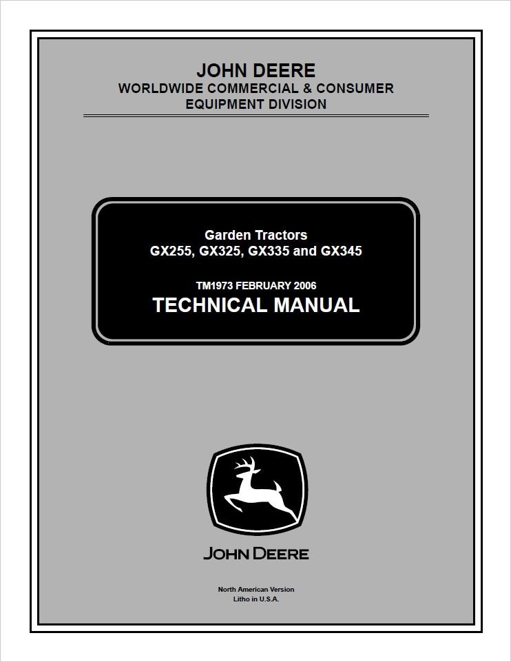 John Deere CCE GX255, GX325, GX335, GX345 Lawn and Gar - MYServiceManuals | Gx345 Wiring Diagram |  | MYServiceManuals