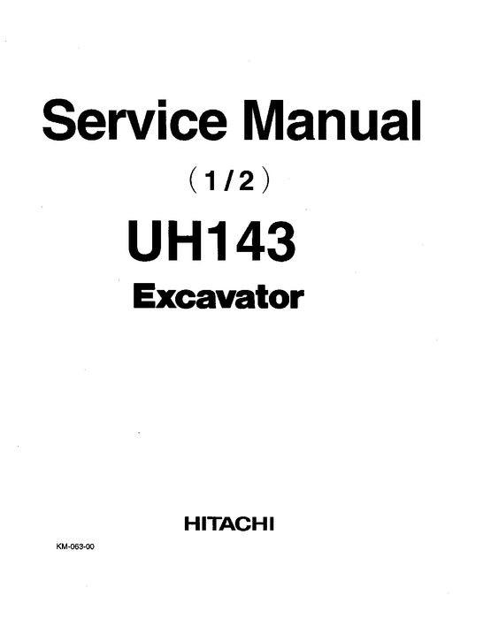 Hitachi UH143 Hydraulic Excavator Service Manual KM063