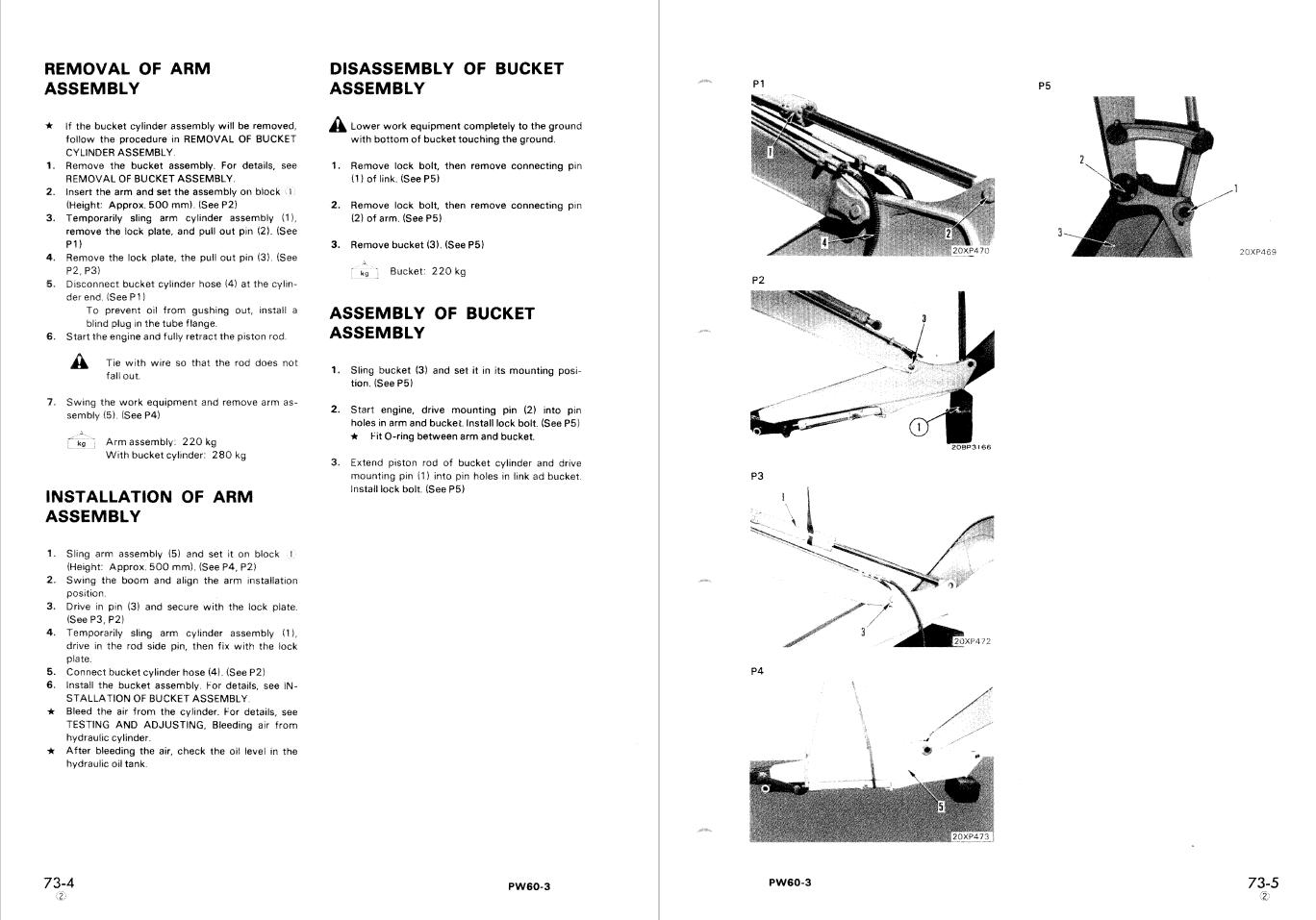 Komatsu Repair Manual D57S-1 Crawler Loader//Dozer Shovel 6501 and up SEBM0135A05