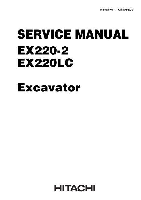 Hitachi EX220-2, EX220LC-2 Hydraulic Excavator Technic