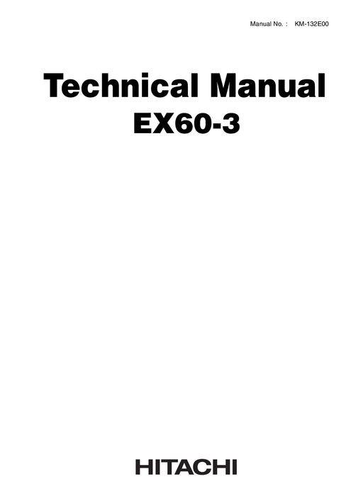 Hitachi EX60-3 Hydraulic Excavator Technical Manual