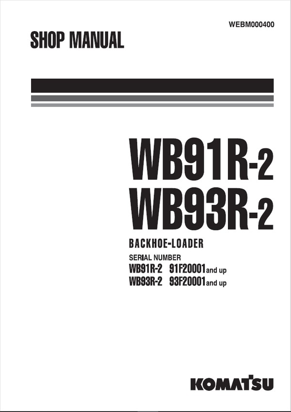 Komatsu GD705A-4 23001 and up Motor Grader Shop Manual