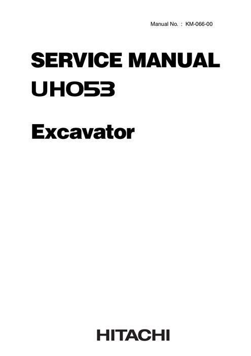 Hitachi UH053 Hydraulic Excavator Service Manual KM066