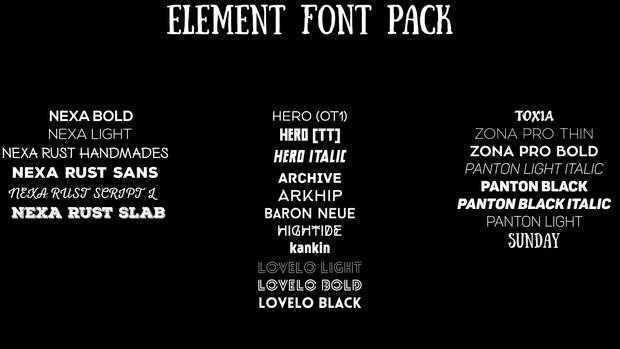 ELEMENT FONT PACK