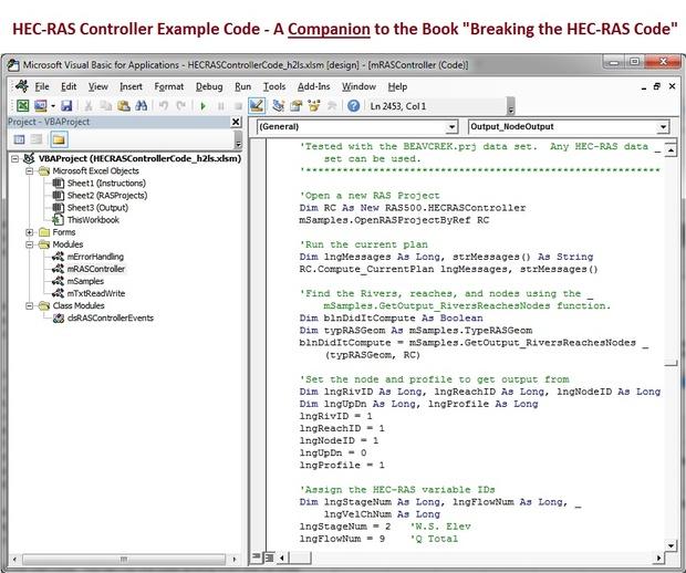 HECRASController Code-Companion Workbook to