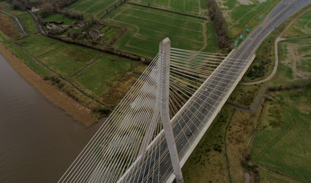 Aerial of Thomas Francis Meagher Bridge Waterford