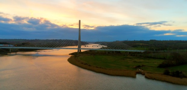 Cable - Stay Bridge over River