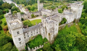 Cinematic High Definition Aerial Footage of and Irish Castle