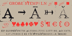 Font | Hand Stamp Play Rough Serif