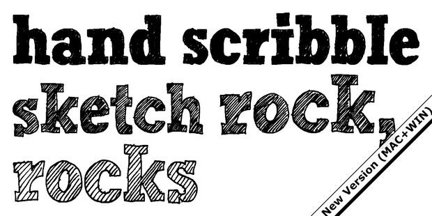 Font | Hand Scribble Sketch Rock