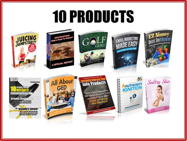 10 High Sales and Quality Products With Resell Rights