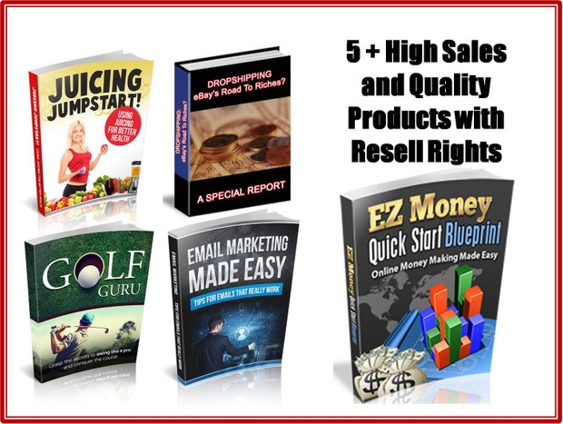 5 High Sales and Quality Products With Resell Rights