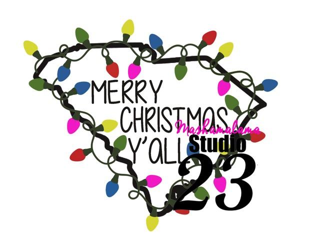 South Carolina - Merry Christmas Y'all