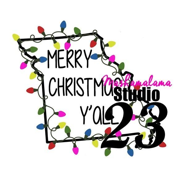 Missouri =  Merry Christmas Y'all!