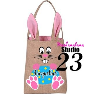 Bunny Face Bag with Personalized Egg