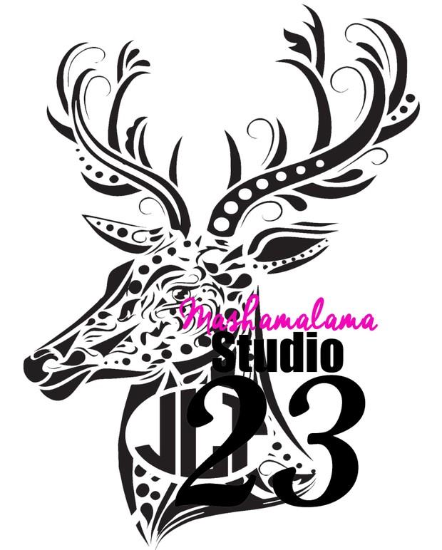 Deer Head / Stag Monogram Frame