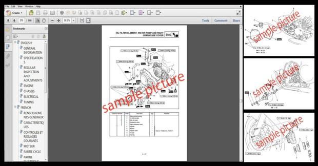 Kawasaki 1200 STX-R Jet Ski JT1200 Workshop Service & Repair Manual 2002-2003