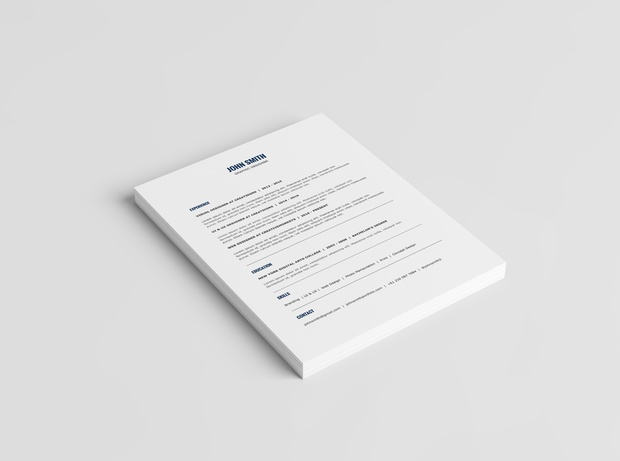 Minimalist Resume Template + Cover Letter Template | 2