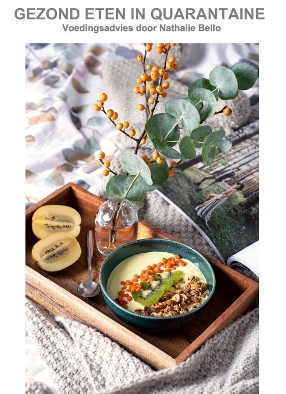 Gezond eten in quarantaine - voedingsadvies door Nathalie Bello