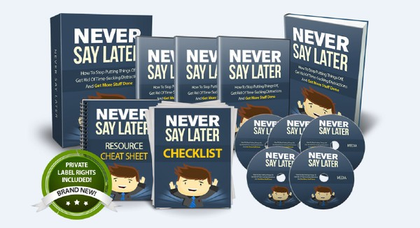 Never Say Later - Plan Your Own Route To Success As You Go