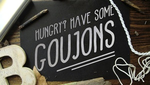 The 'Goujons' Font (Commercial Licence)