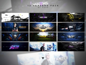 12 Headers .PSD Pack