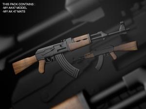AK47 .C4D MODEL !