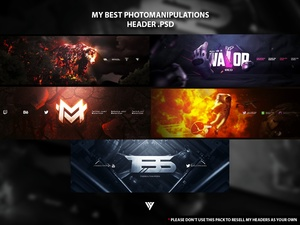 My Best Photomanipulations Headers .PSD