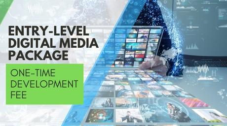 Website & Digital Media Package #1 ($500.00 Dev. Fee)