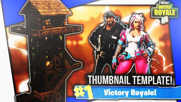 Fortnite Thumbnail Template #2