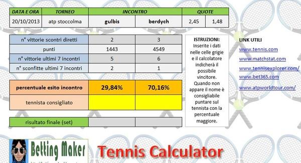 Tennis Calculator