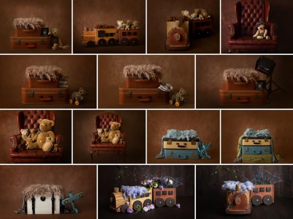 Newborn Digital Backdrops Pack of 16, Newborn Digital backgrounds, Newborn Photography Digital props