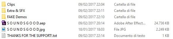 S O U N D S G O O D - Project file and 300 fps Clips