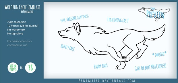 Animated Wolf Template