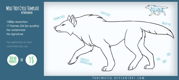 Wolf Trot Cycle by Panimated