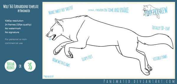 Wolf Turnaround Animation Template