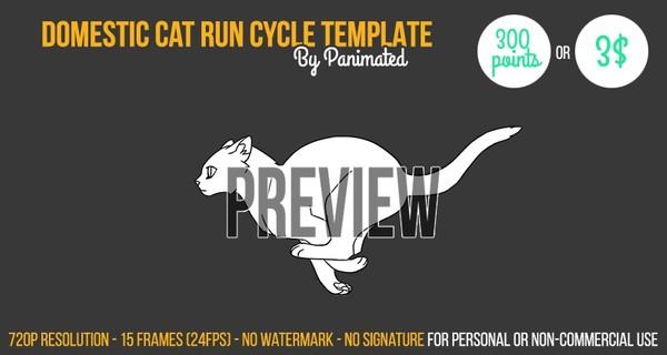 Cat Run Cycle Template