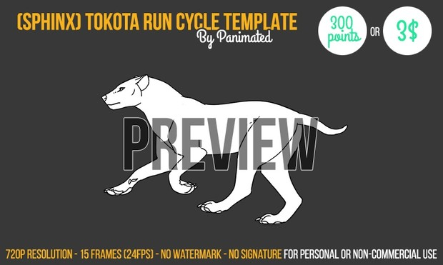 SPHINX Tokota run cycle template