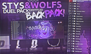 BackPack (Dual Pack With Stys!)