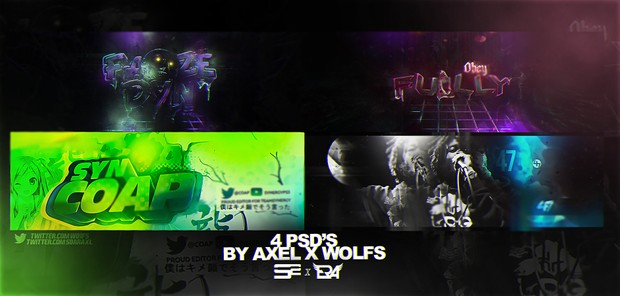 4 Exclusive PSD's (ft. SoaR Axel)