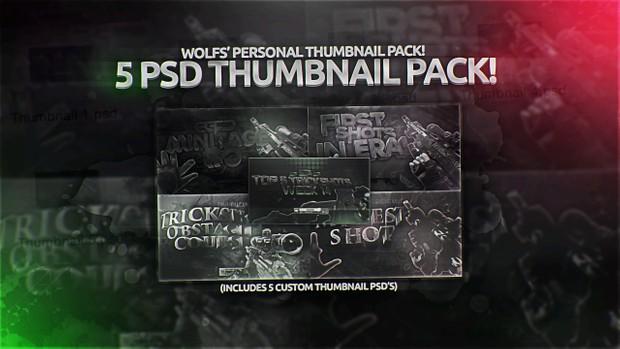 5 Personal Thumbnail PSDs!