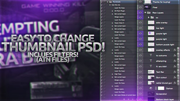 Easy to Change Thumbnail PSD! (INCLUDES ATN!)