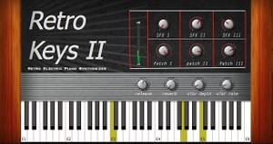 Retro Keys 2   AU/VST 32/64bit plugin for Mac OSX
