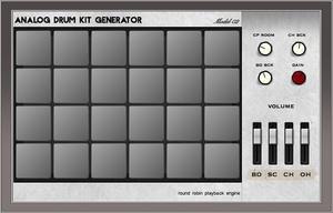 Analog Drum Kit M02 (Mac OSX Audio Unit & VST drum machine plugin)