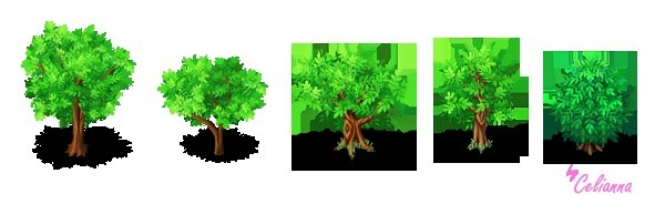"Celianna's Parallax Tiles ""Trees 4"""